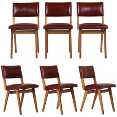 Set of Six Mid-Century Modern-Style Dining Chairs