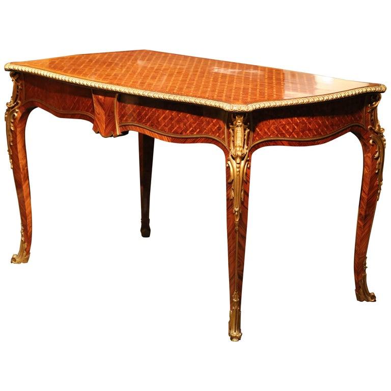 19th Century Louis XV Style Bureau Plat