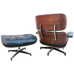1960s Herman Miller Eames Lounge and Ottoman with Down Mix Cushions