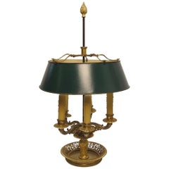 Gilt Bronze Bouillotte Lamp, French, 19th Century
