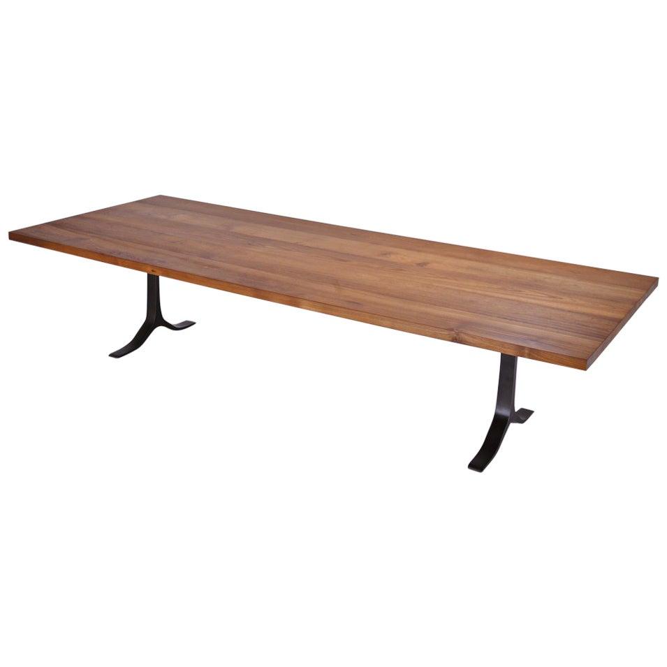 Bespoke Reclaimed Hardwood Table on Sand Cast Aluminium Base by P. Tendercool