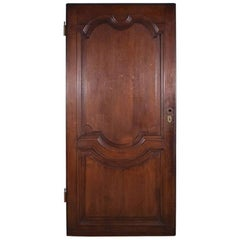 Antique French Oak Wood Door from the 1700s or Early 1800s
