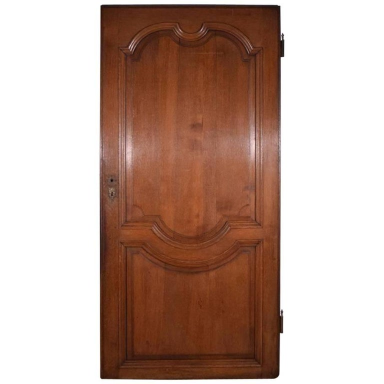 Antique French Oakwood Door from the 1700s or Early 1800s For Sale - Antique French Oakwood Door From The 1700s Or Early 1800s For Sale