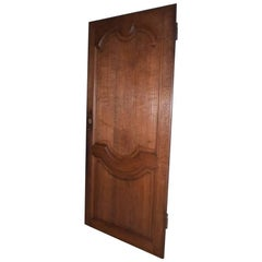 Antique French Oakwood Door from the 1700s or Early 1800s