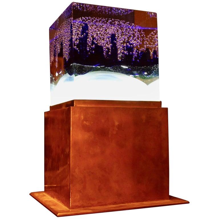 Murano Glass Bubble Design Table Lamp