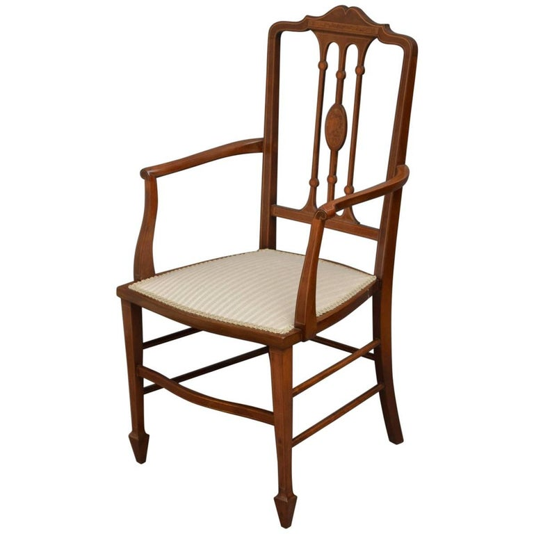 Savonarola Inlaid Armchair For Sale At 1stdibs