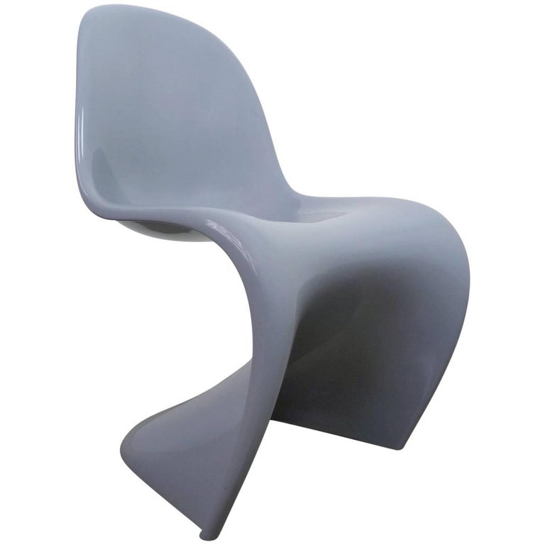 grey panton chair classic by verner panton for vitra germany 1998 for sale at 1stdibs. Black Bedroom Furniture Sets. Home Design Ideas