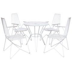 Mathieu Matégot Garden Furniture Set