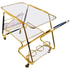 Large Bar Cart by Cesare Lacca, Italy