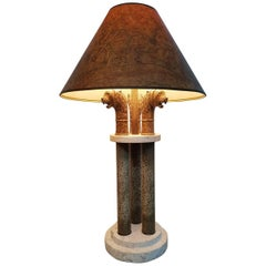 Classical Roman and Egyptian Style Table Lamp