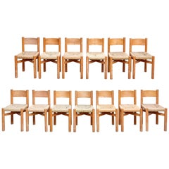 Set of 13 Charlotte Perriand Meribel Chairs, circa 1950