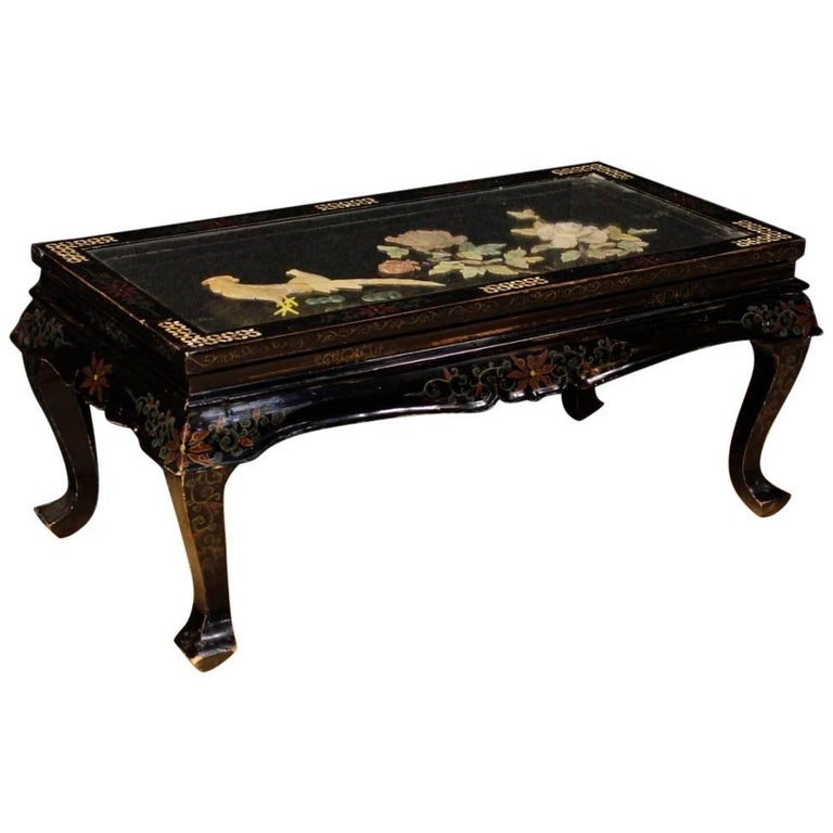 black coffee tables for sale walnut french black coffee table in lacquered and painted chinoiserie wood 20th century for sale