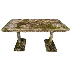 Rare Form French Rectangular Faux Bois Table