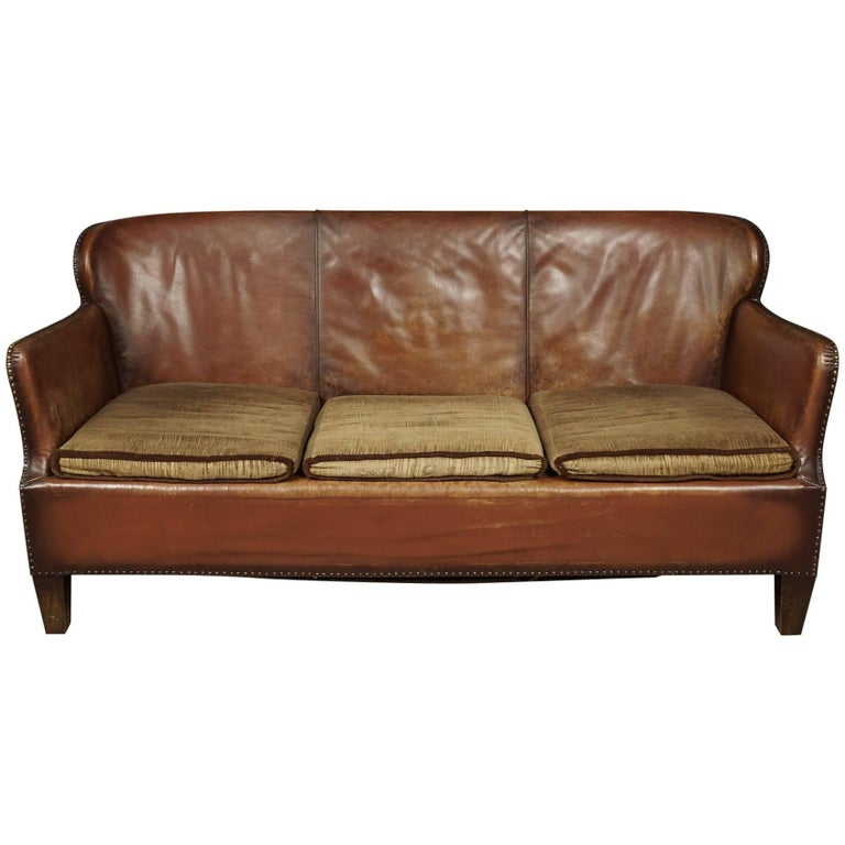 Vintage Chesterfield Sofa From Denmark Circa 1940 For