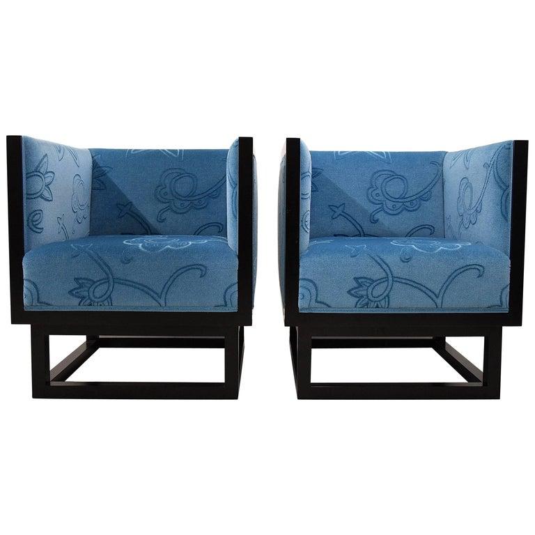 Josef Hoffmann Cabinett Lounge Chairs