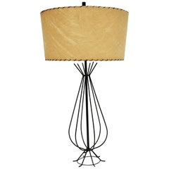 1950s Wire Table Lamp in the Style of Tony Paul, USA