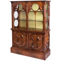 19th Century Gothic Mahogany Display Cabinet
