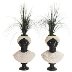 Pair of Blackamoor Busts