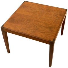 Danish Modern Teak Petite Cocktail Table with Rosewood Bow Tie Detail