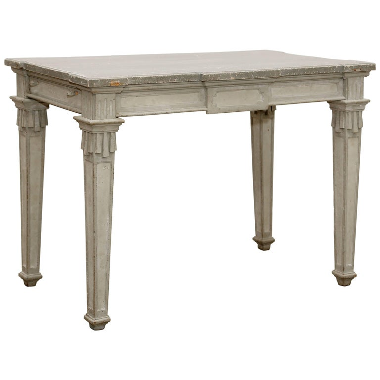 Antique Swedish Period Gustavian Painted Console Table Early 19th Century