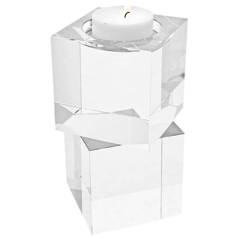 Cubiks Candleholder in Crystal Glass
