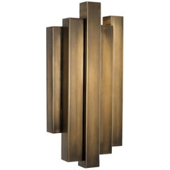Towny Wall Lamp in Vintage Brass