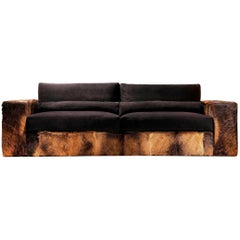 Patagonia Sofa with Real Patagonia Goatskin