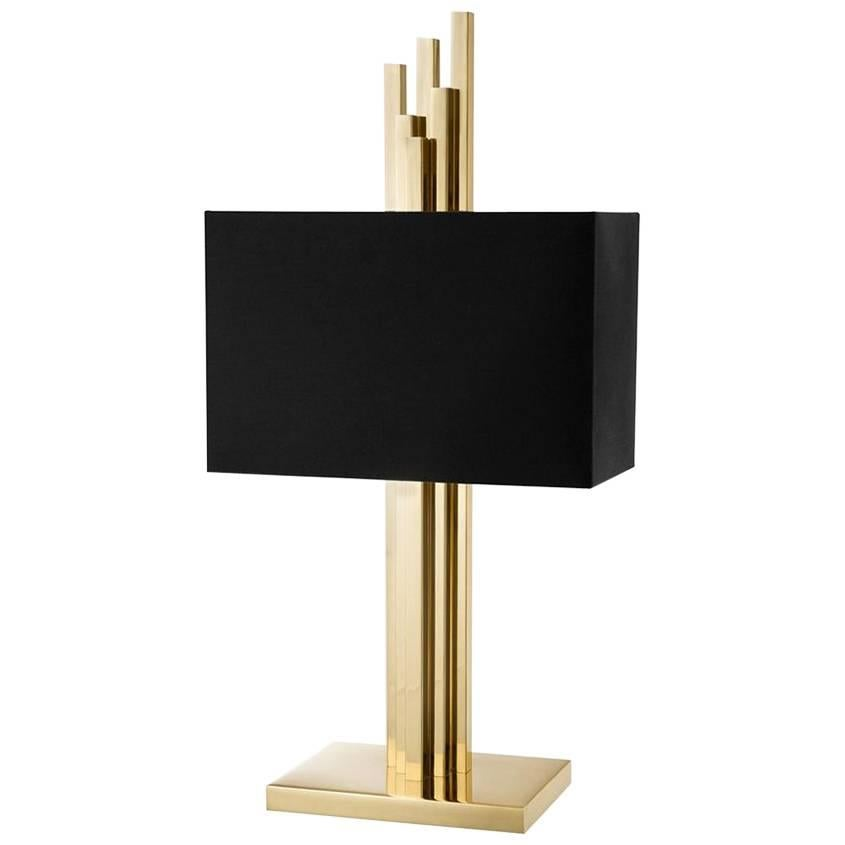Strada Table Lamp in Gold or Nickel Finish