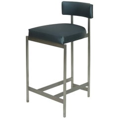 Modern Italian-inspired Metal Bar or Counter Stool