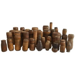 19th-20th Century Collection of Tobacco Lime Containers from Papua New Guinea