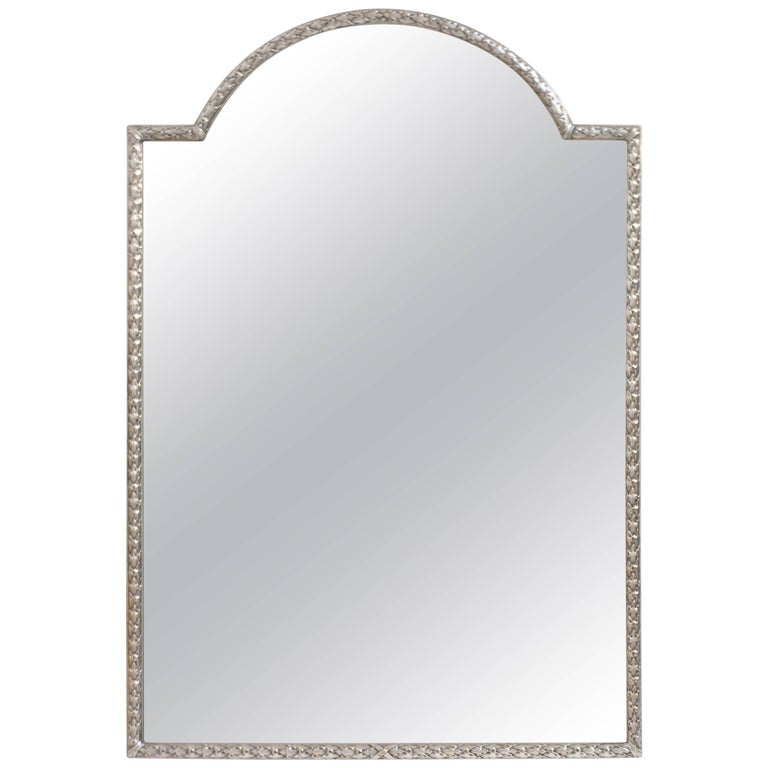 Silver Plated Bronze Dressing Table Mirror, French, Late 19th Century 1