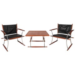 "Exquisite Mid-Century Modern ""Stokke"" Jens Quistgaard Lounge Chairs and Table"