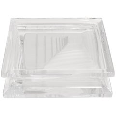 Geometric Daum Crystal Ashtray