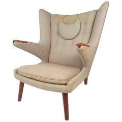 Mid-Century Modern Papa Bear Lounge Chair by Hans J Wegner
