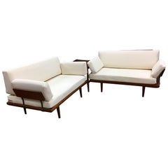 Peter Hvidt & Orla Mølgaard Three-Piece Minerva Sectional Sofa Daybed, 1950s
