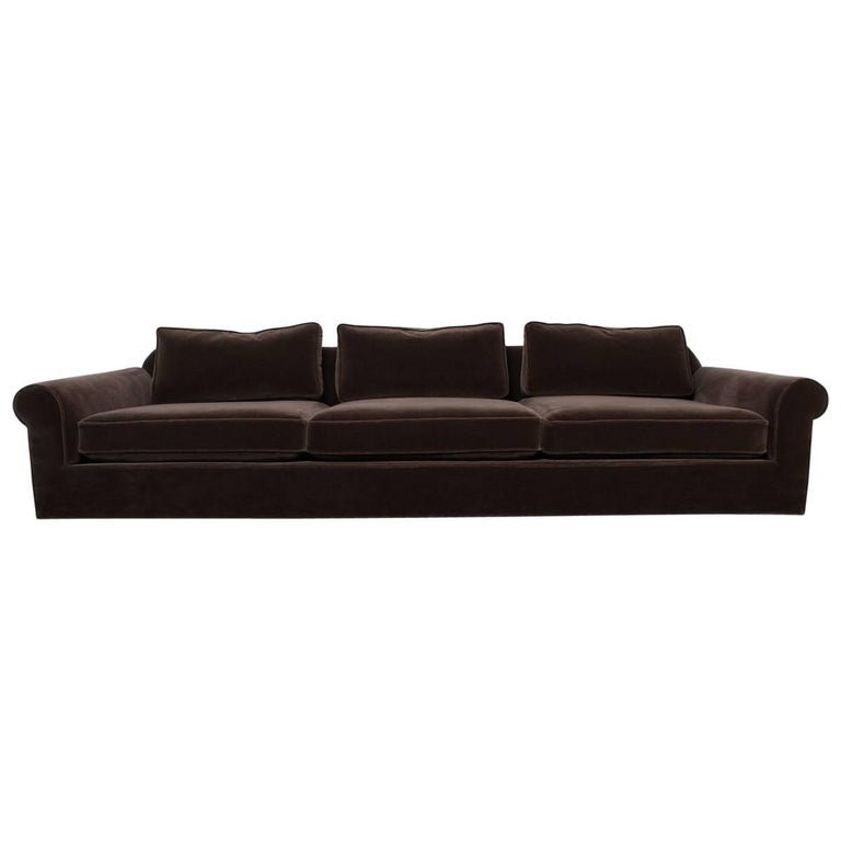 """Big Texan"" Sofa by Edward Wormley for Dunbar in Mohair For Sale"