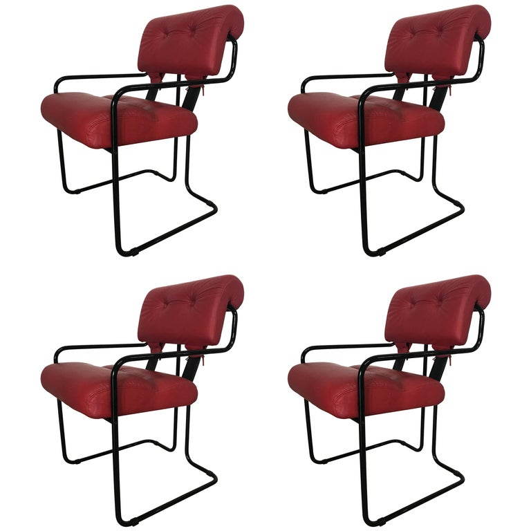 "Rare Set of Four ""Tucroma"" Chairs by Guido Faleschini for Pace Collection"