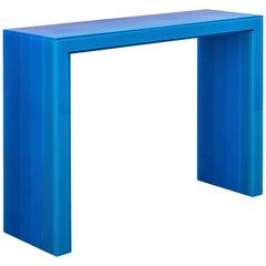 """Console, Gradient, Blue Resin"", Resin, Wood, Steel, 2017, Facture Studio"