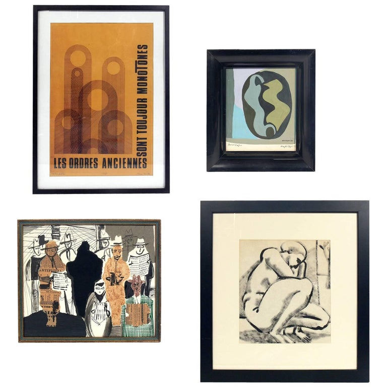 Selection of Modern Art or Gallery Wall For Sale