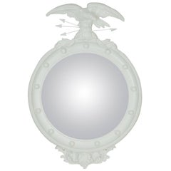 Vintage Regency Eagle Convex Mirror