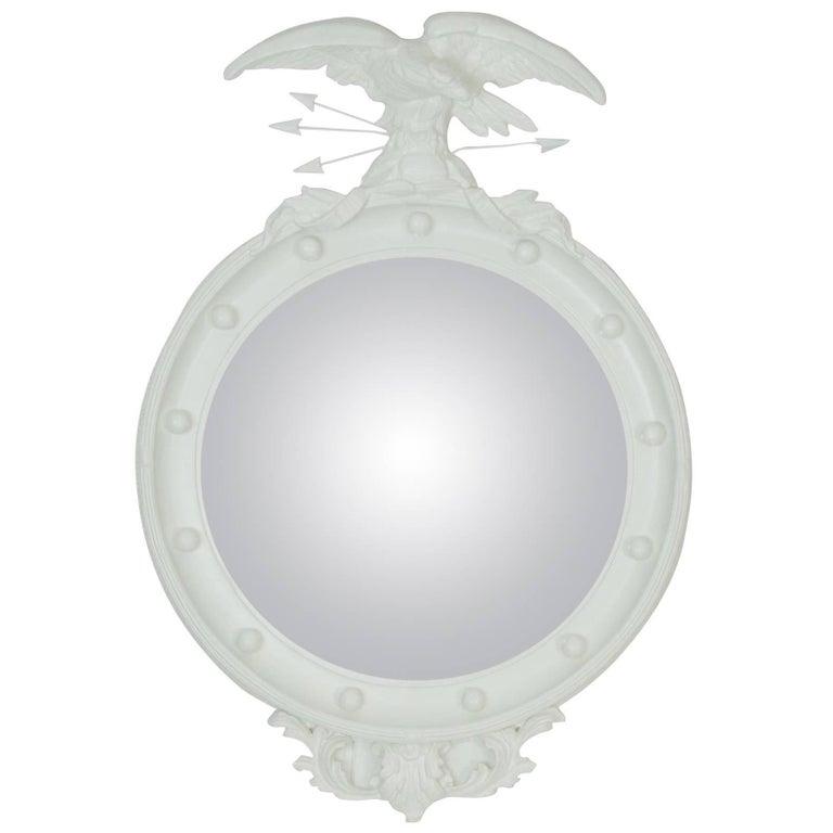 Vintage Regency Eagle Convex Mirror