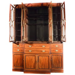 George III, Mahogany Secretaire Bookcase