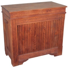 19th Century Rustic Pine Feed Bin with Bread Board Built In