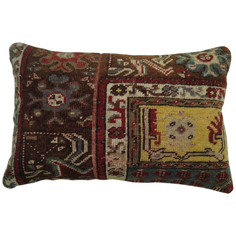 Lumbar Turkish Rug Pillow For Sale