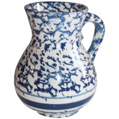 Sponge Ware Pottery Pitcher