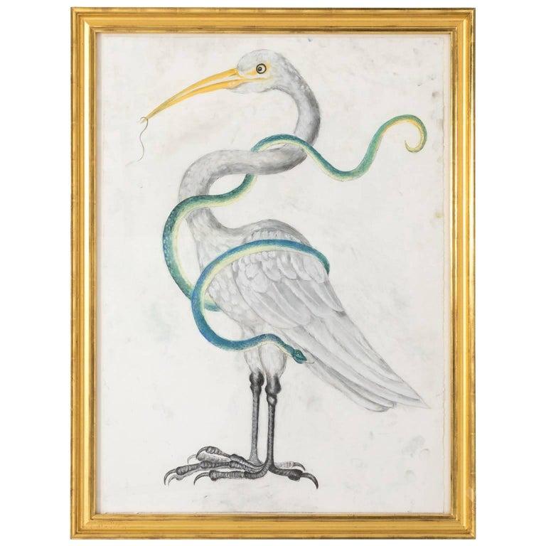 Stork Pastel by Marianne Stikas