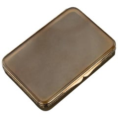 20th Century Continental Agate and 9-Karat Gold Cigarette Case, circa 1900