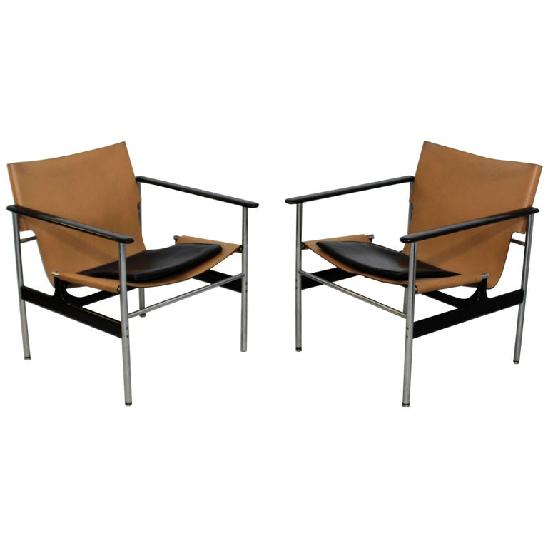 Super Mid Century Modern Pair Of Charles Pollock For Knoll 657 Chrome Armchairs Machost Co Dining Chair Design Ideas Machostcouk