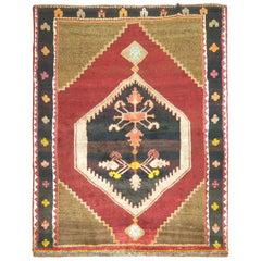 Bohemian Vintage Turkish Kars Rug