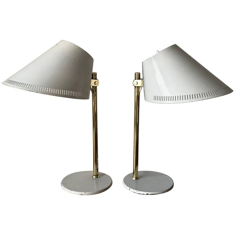 Pair of Table Lamps by Paavo Tynell Model 9227 For Sale